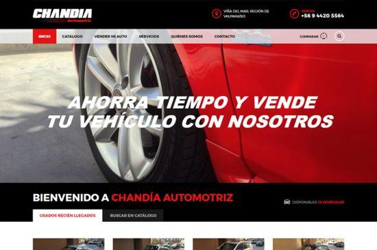 Diseño Web, Chandía Automotriz