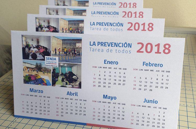 Impresión Calendarios de escritorio, Senda