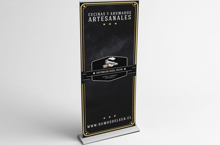 Diseño e Impresión Pendón Roller 0,80 x 2, Humos del Sur