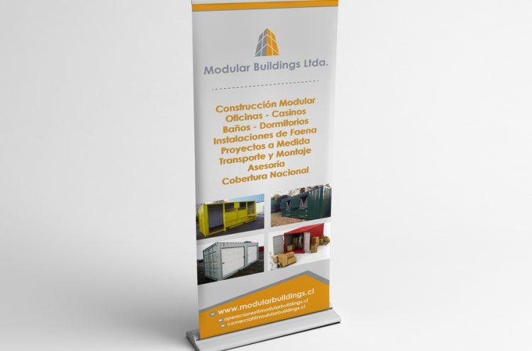 Diseño e Impresión Pendon roller 0,80 x 2, Modular Buildings