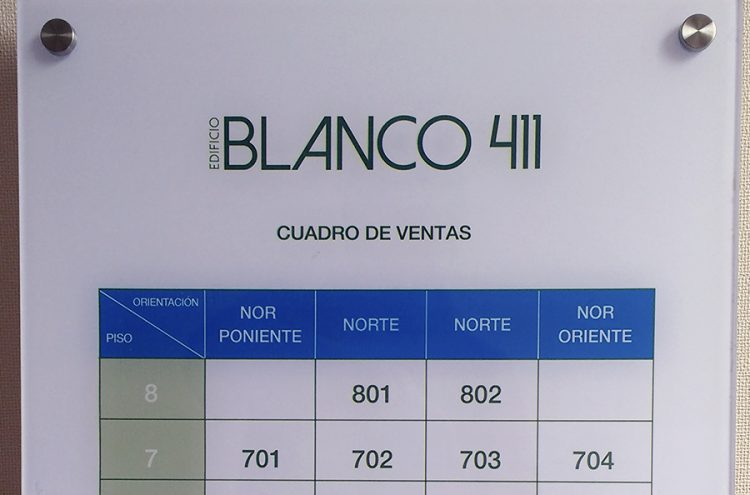 Placa Acrílica, Blanco 411