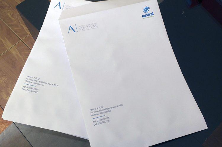 Impresión Sobre Carta, Centro Cardiológico Austral