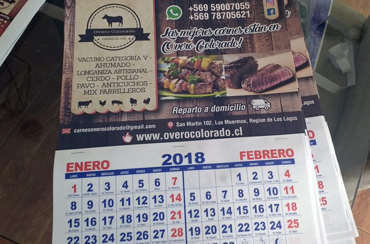 Calendarios de Pared, Overo Colorado