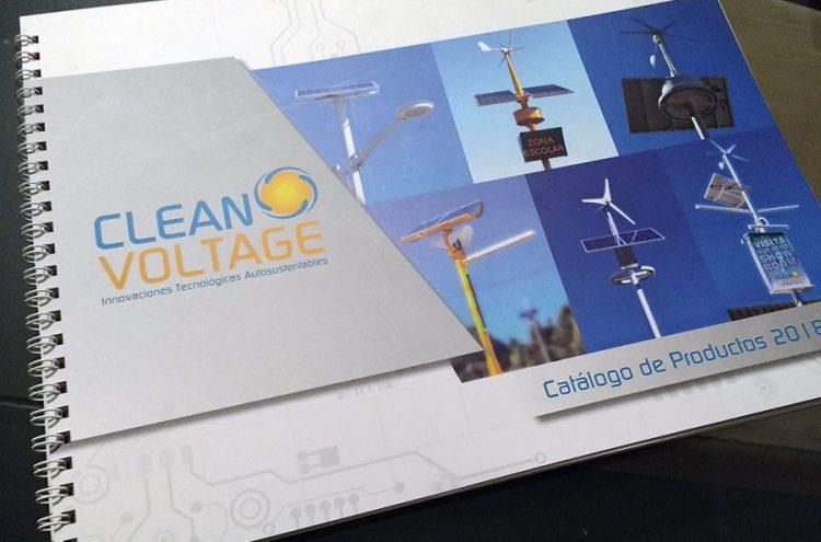 Diseño e Impresión Catálogo de Productos, Clean Voltage