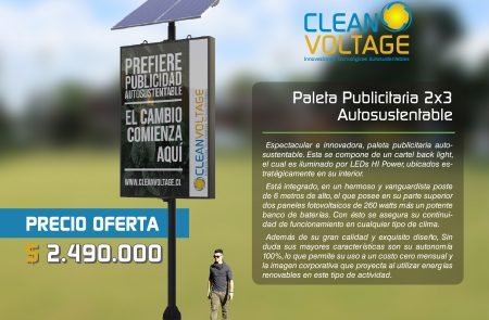Diseño Fichas Productos, Clean Voltage