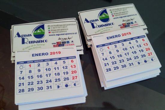 Mini Calendarios Magnéticos, Aguas Rupanco