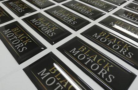 Adhesivos con Resina, Black Motors