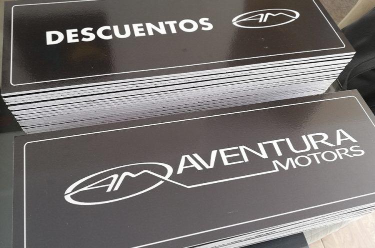 Impresión Tapa Patentes, Aventura Motors