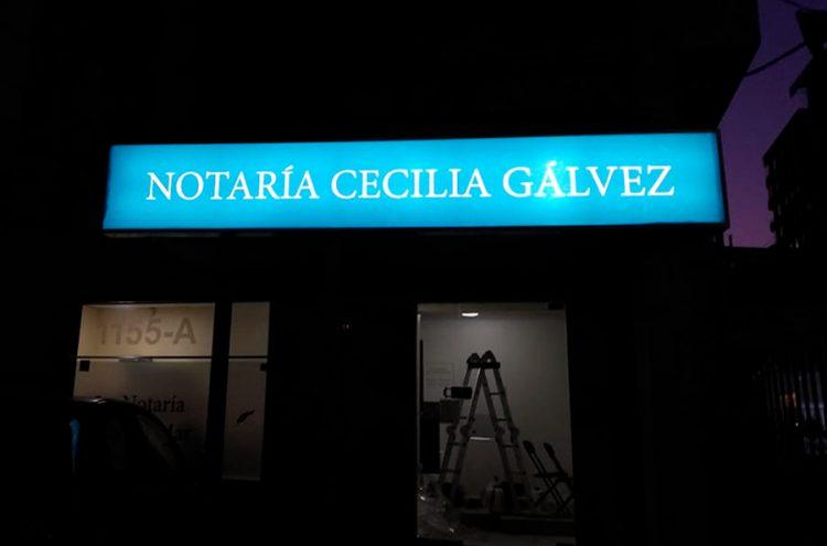 Habilitacion de Oficinas, Notaria Cecilia Galvez