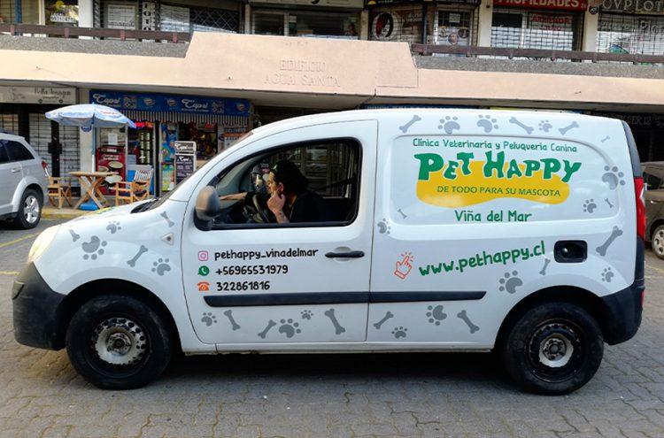 Rotulacion vehicular, Pet Happy