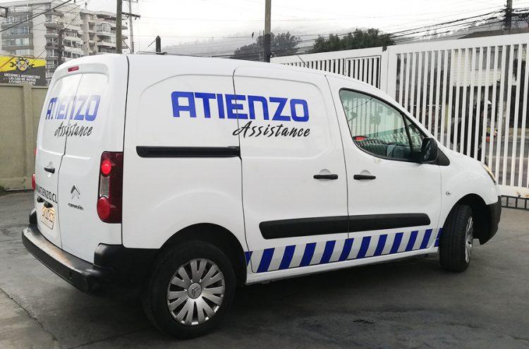 Rotulacion vehicular, Atienzo