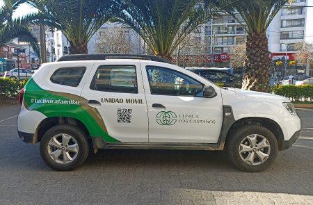 Rotulacion Vehicular, Clinica Los Castaños